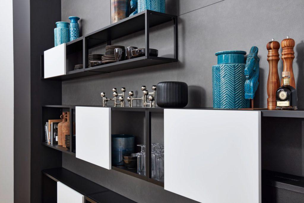 Cuisine design Ferro Acier Bleu - Cuisines sur mesure | Elton