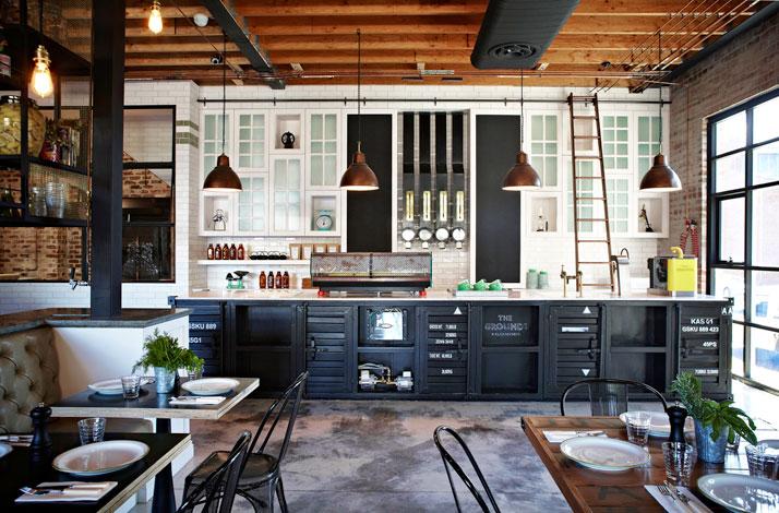 Cuisine styl e indus lyon ambiance cuisine industrielle for Cuisine industrielle loft